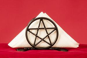 Serviettenhalter Pentagramm