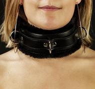 Gepolsterte Unisex Halskette mit Pelz